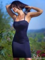 Дениз Милани, фото 5555. Denise Milani Black Dress 2 :, foto 5555
