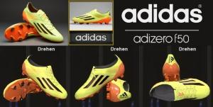 Download Adidas - F50 Adizero FG Glow/Earth Green/Solar Zest