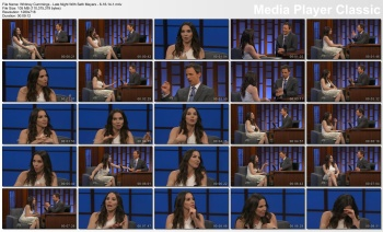Whitney Cummings - Late Night With Seth Meyers - 6-18-14