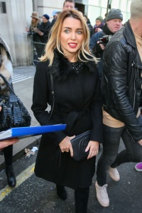 Dannii Minogue - Leaves BBC Radio 2 Studios in London - February 24th 2017
