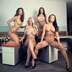 Gatas QB - Jessy Jensen, Elif Çelik, Gia Ray e Kasia Halela Playboy México Setembro 2016