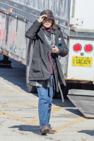 Winona Ryder - On the set of 'Stranger Things' in Indiana 2/5/16