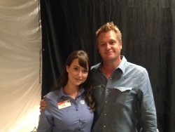 Milana Vayntrub on the set of an AT&T commercial - June 2014