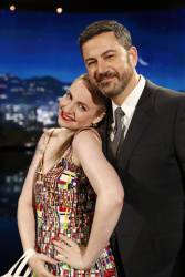 Lena Dunham - Jimmy Kimmel Live: April 5th 2017