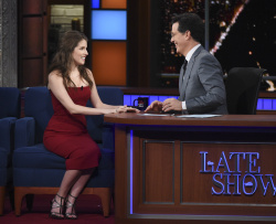 Anna Kendrick - Late Show with Stephen Colbert: March 10th 2016