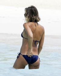 Jessica Alba Wearing a Bikini in The Caribbean - 4/2/15