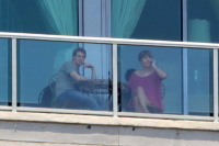 Taylor Swift - candids on a balcony with her new boyfriend in Nashville, TN - 06/03/17