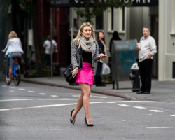 Hilary Duff on the set of Younger in New York City - October 29, 2014