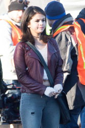 Selena Gomez on the set of The Revised Fundamentals of Caregiving in Atlanta - January 28, 2015