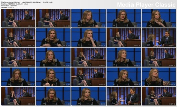 Anna Chlumsky - Late Night with Seth Meyers - 6-3-14 (milky thighs)