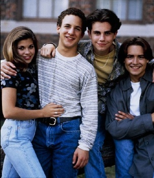Danielle Fishel, Ben Savage, Rider Strong and Will Friedle on Boys Meets World