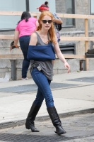 Джессика Честейн, фото 2279. Jessica Chastain On the set of 'The Disappearance of Eleanor Rigby' in New York City - July 13, 2012, foto 2279