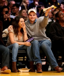 Mila Kunis at the Lakers Game in Los Angeles - 12/19/14