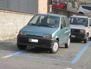 COPERCHIO BOX RIGIDO 1995 1:43 modellino FIAT CINQUECENTO ELETTRA