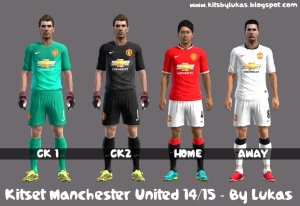 db2fddd2b1a Pes 2013 Manchester United 14-15 Kits By Lukas - PES Patch