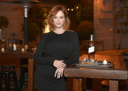 Christina Hendricks - toasts Johnnie Walker Platinum Label in Santa Monica 10/22/13