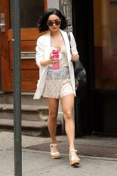 Vanessa Hudgens leaving her apartment in Soho 5/27/15