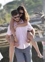 Nina Dobrev with her boyfriend Austin Stowell in Saint-Tropez (July 24) SleN1kGW