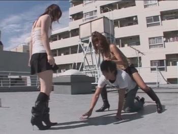 Japan femdom panties kicking