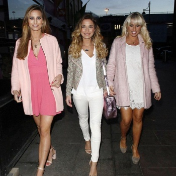Ferne McCann appeared to be having a great time at the party with Sam and Billie Faiers on a singles night in Essex on Wednesday, March 19, 2014.