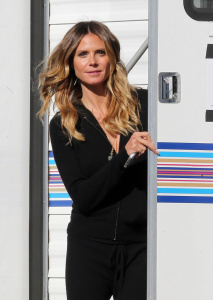 Heidi Klum - Filming Germany's Next Top Model in Los Angeles - January 26th 2017