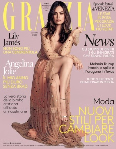 Lily James -                     Grazia Magazine (Italy) September 2017.