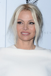 Pamela Anderson - Stella McCartney Autumn 2016 Presentation @ Amoeba Music in Los Angeles - 01/12/16