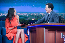 Rosario Dawson - The Late Show with Stephen Colbert: April 21st 2017