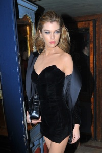 Stella Maxwell - Arriving at Lapérouse Restaurant to Attend the 'V Magazine' party in Paris - March 7th 2017