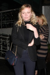Kirsten Dunst - Out for dinner in West Hollywood 1/4/17