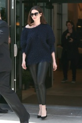 Anne Hathaway - Leaving a meeting in New York City 4/18/17