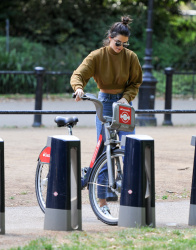 Kendall Jenner Riding a Bike in London - 6/30/15