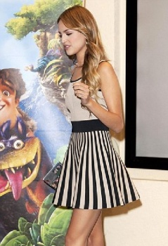 Eiza González on a press conference for her new film, Los Croods