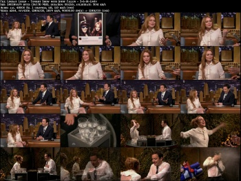 Lindsay Lohan - Tonight Show with Jimmy Fallon - 3-6-14