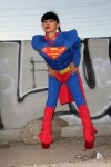 Bai Ling posing in a Superman Costume for Halloween and then getting naked October 31-2015 x59