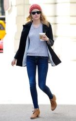 Emma Stone - out in NYC 4/22/13