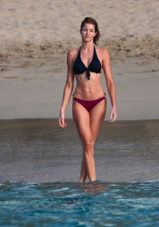 Stephanie Seymour - wearing a bikini on the beach in St Barts 12/31/12