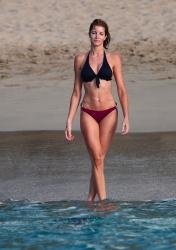 Stephanie Seymour - wearing a bikini on the beach in St Barts 12/31/12