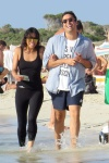 Michelle Rodriguez enjoying a walk along the beach with friends in Formentera August 10-2015 x11