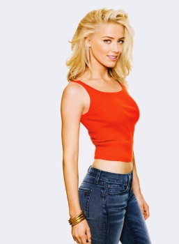 Amber Heard Womens Health 2011 x3 HQ Words Removed