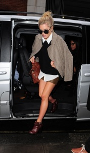 The Saturdays Arriving at BBC Radio 1 in London 29th January x33