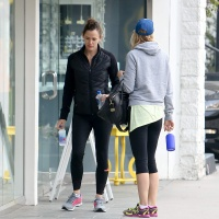 Jennifer Garner Seen after a workout with a friend today in Los Angeles February 4-2015 x25