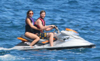 Nina Dobrev and Asustin Stowell enjoy the ocean off the cost the French Riviera (July 26) MtuoPati