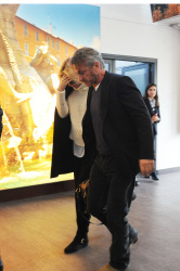 Sean Penn - Sean Penn and Charlize Theron - depart from Rome after a Valentine's Day weekend - February 15, 2015 (37xHQ) X4jxOIQ8