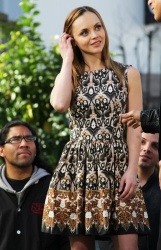 Christina Ricci - on the set of Extra at The Grove in LA 2/1/13