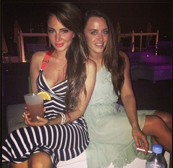 Tulisa Contostavlos shares her night out with female pal in Dubai