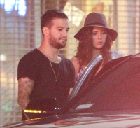 Nina Dobrev and Mark Ballas hanging out with friends outside a local LA (August 22)  WbVFBfIJ
