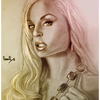 Real Photo and ArtWork's by Popular PornStar Jenny Poussin's