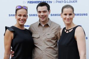 Sonja Kirchberger Attends Samsung Designer Mercedes Benz Fashion Week