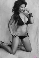 Дениз Милани, фото 5087. Denise Milani Black & White bikini :, foto 5087